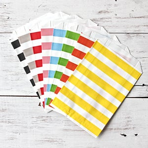 Image of Stripe Paper Bags