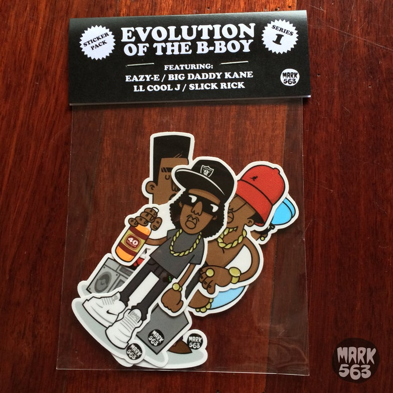 Image of Sticker Pack: Evolution Of The B-Boy Series 1 feat. Eazy-E, LL Cool J, Big Daddy Kane & Slick Rick