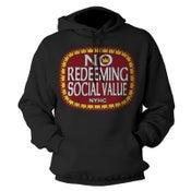 "Image of NO REDEEMING SOCIAL VALUE ""Olde E"" Logo Hoodie"