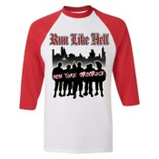 "Image of RUN LIKE HELL ""New York Streetrock"" 3/4 Sleeve Jersey"