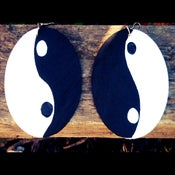 Image of Yin & Yang wood earrings
