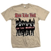 "Image of RUN LIKE HELL ""New York Streetrock"" Beige T-Shirt"