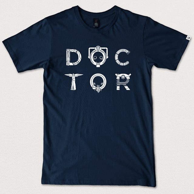 "Image of ""DOCTOR"" - Navy Blue tee"