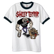 "Image of SHEER TERROR ""Bulldog Walker"" Ringer T-Shirt"