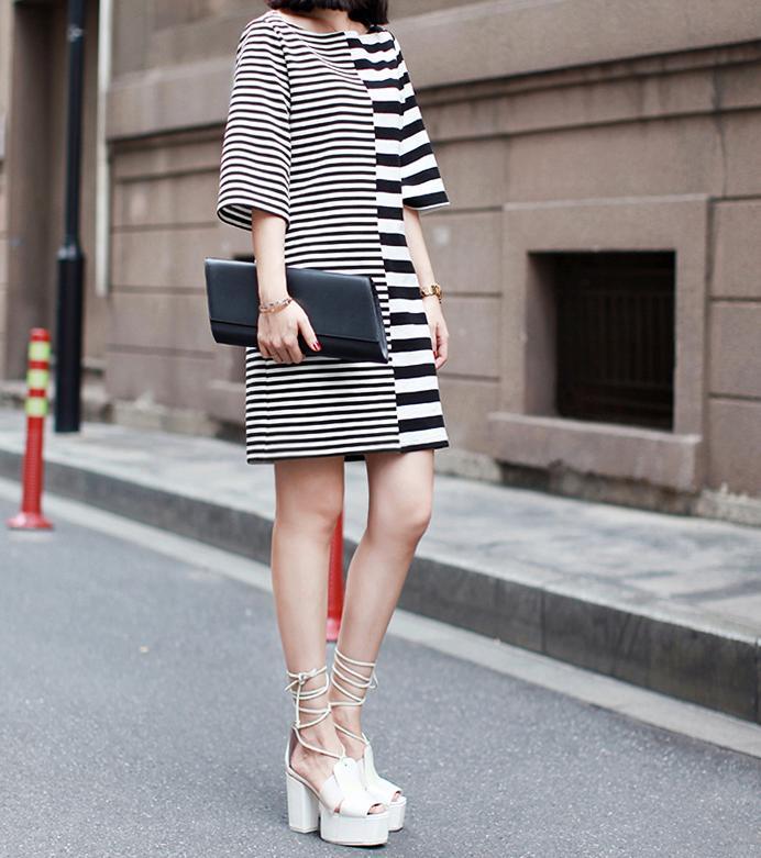 Image of 66. Zebra Crossing Dress