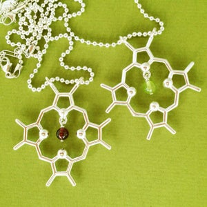 Image of chlorophyll/heme necklace