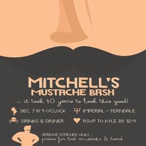 Image of Mustache Bash - Invitation (Movember)