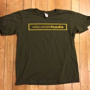 Image of Wisconsin Foodie T Shirts - Green / Yellow