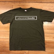 Image of Wisconsin Foodie T Shirts - Green / White