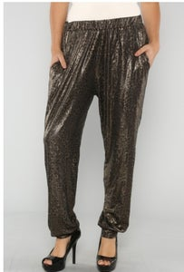 Image of Metallic Leopard Pant - Plus