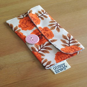 Image of Orange Roses wallet