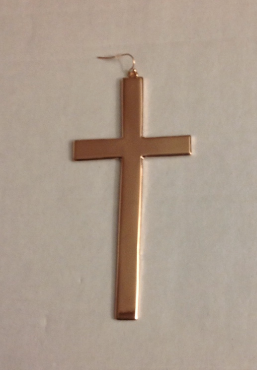 Image of Heavy Cross Earrings