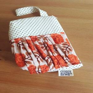 Image of Orange Rose wristlet // Fancy Dot