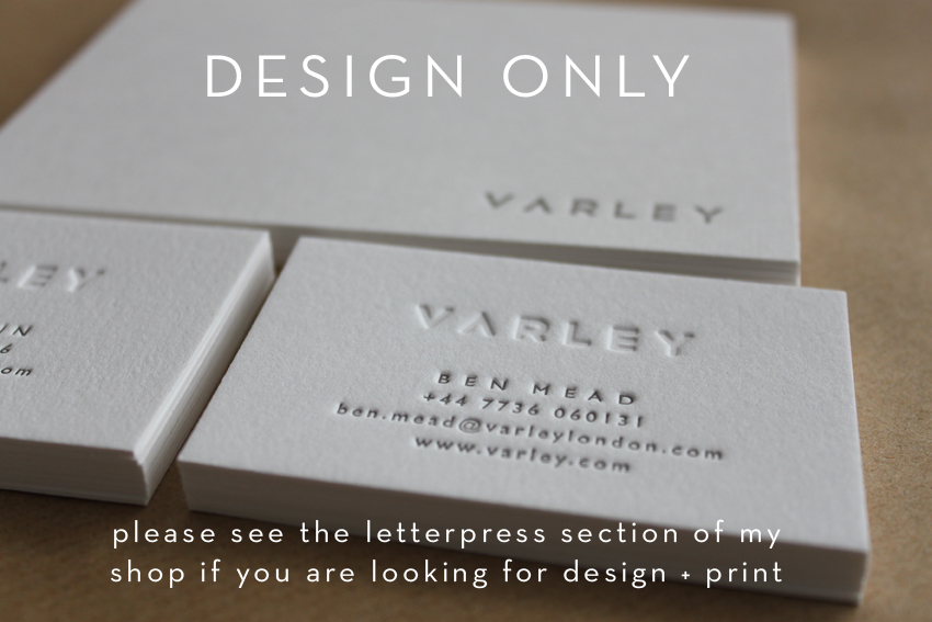 Image of Business Card Design // Purchase a Design Package