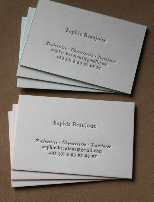 Letterpress business cards and wedding invitations maple tea image of letterpress business cards on natural white cotton stock made to order reheart Gallery