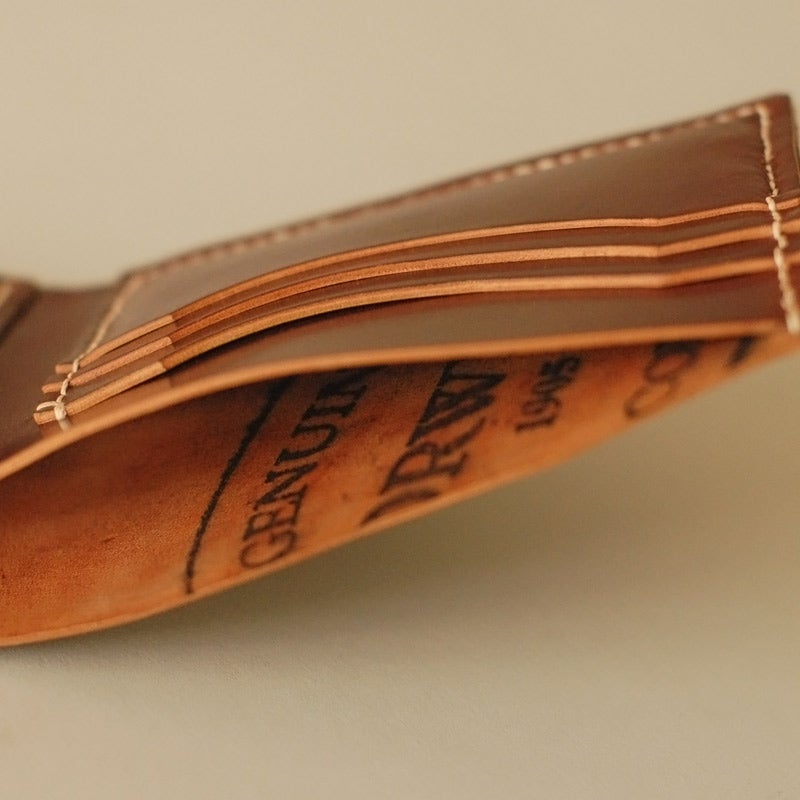 Image of Premium Bi-Fold Wallet - Horween® Shell Cordovan No.8