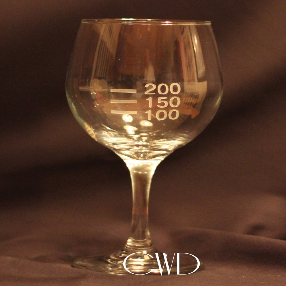 Image of Calorie Counter Etched Wine Glass