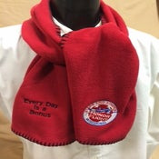 Image of Super soft scarf - red with SSHF logo and Every Day is a Bonus