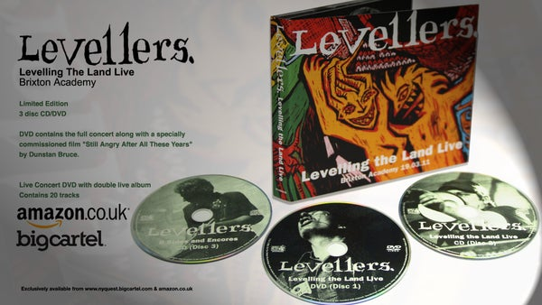 "Image of SALE WAS £16.99 NOW £9.99 The Levellers ""Levelling The Land Live"" Limited Edition CD /DVD"