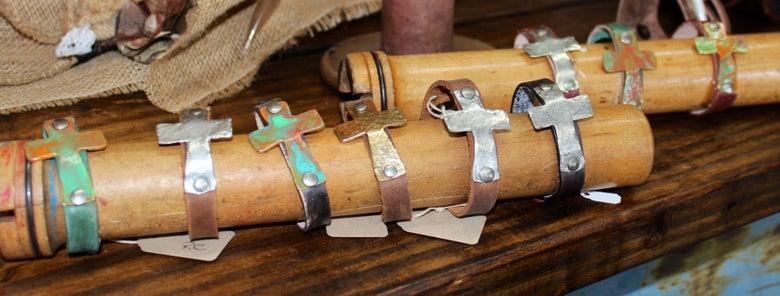 "Image of 1/2"" Cross Bracelet"
