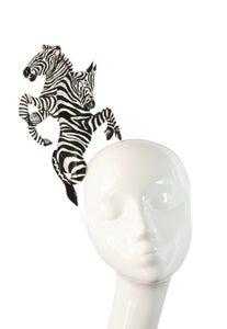 Image of Hand Painted Zebra Fascinator