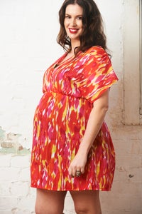 Image of Georgette Tunic Top - Hot Summer Print