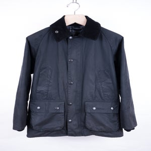Image of Barbour - Black Sylkoil Waxed Cotton Bedale Jacket