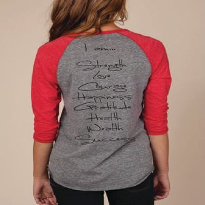 "Image of ""I am"" Henley, red"