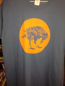 Image of Smokey blue orange sun Large/Extra Large