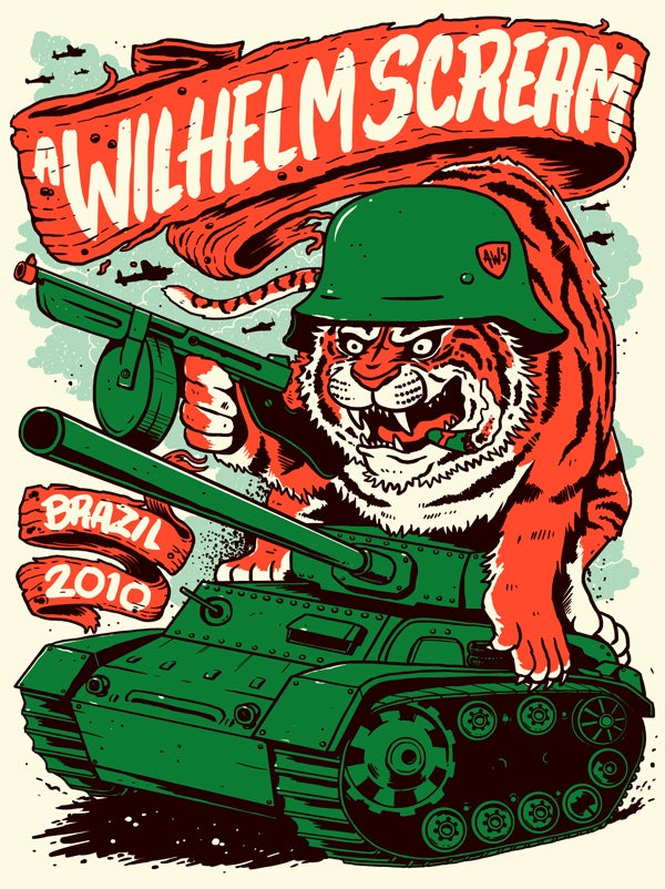 Image of A Wilhelm Scream - Bulletproof Tiger Poster