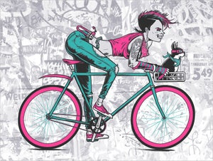 Image of 'Share The Road' Print