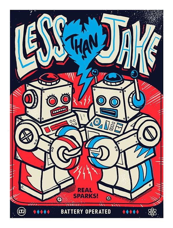 Image of Less Than Jake 'Bots'  Print