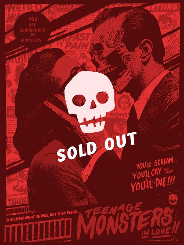 Image of Teenage Monsters In Love - Poster
