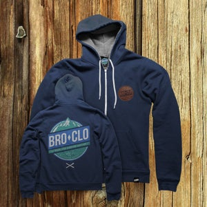 Image of BROCLO Mountain Rescue Hoodie Navy