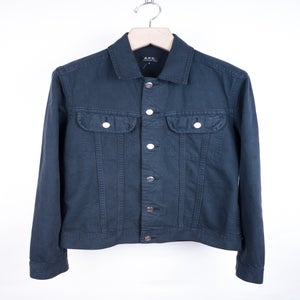 Image of A.P.C. - Garment Dyed Denim Twill Jacket