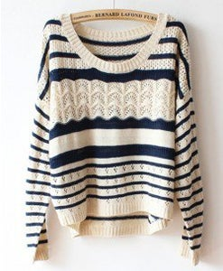 Image of Blue and white striped sweater
