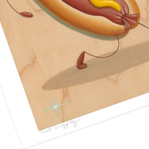 "Image of ""Hot Diggity"" giclee print"