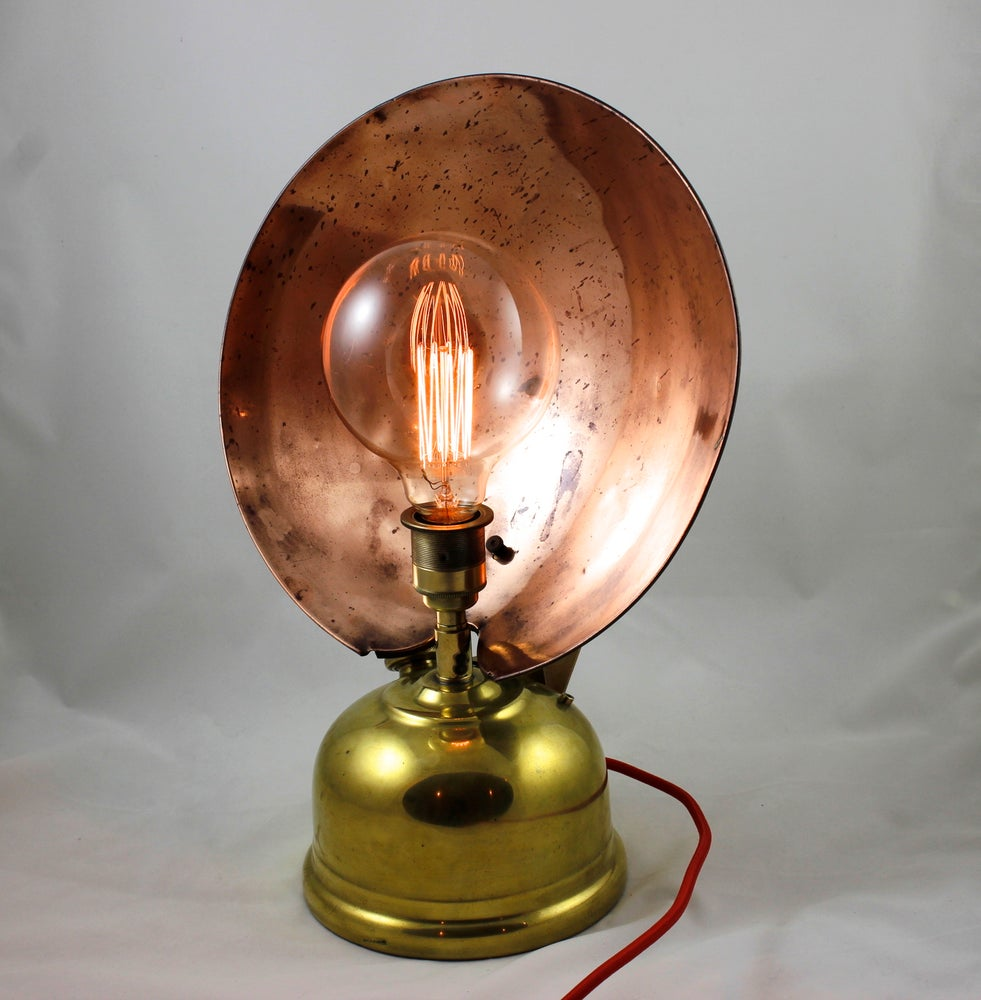 Image of RG2 Light Reflector: Brass & Flecked Copper Table Lamp