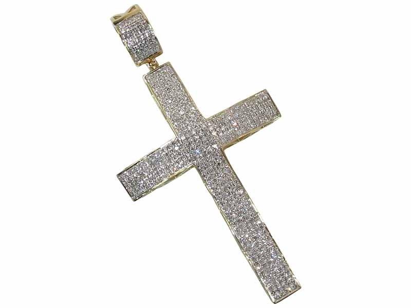 10k gold diamond cross pendant 170 ct dz designs nyc image of 10k gold diamond cross pendant 170 ct mozeypictures Choice Image