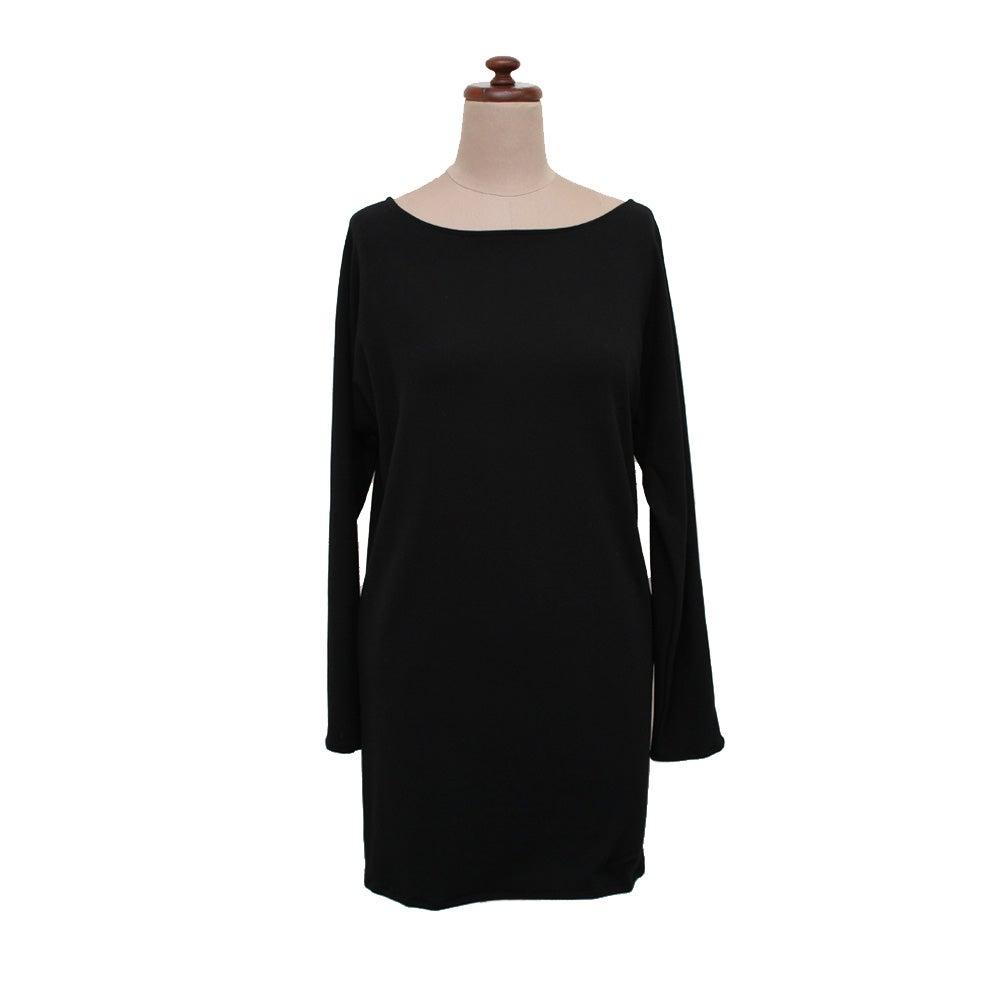 Image of black bamboo long top/dress