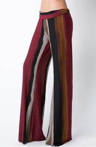 Image of Multi-Color Folded Band Wide Leg Pants