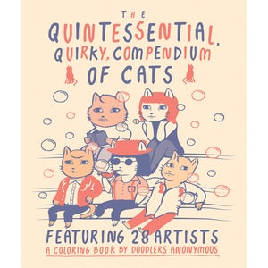 Image of [PRE-ORDER] <br /> The Quintessential, Quirky, Compendium of Cats <br /> (mini coloring book)