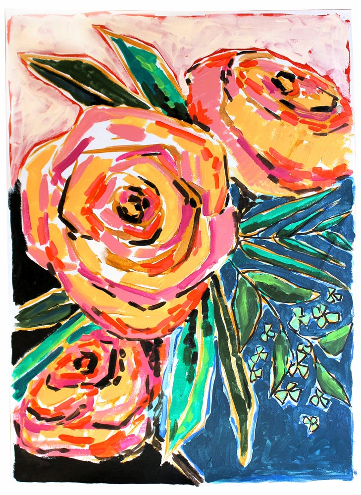 "Image of NEW PRICE! vertical neapolitan roses 19.5"" X 27.5"""