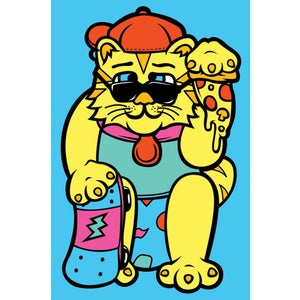 Image of Nachos Luck Cat Mini-Poster