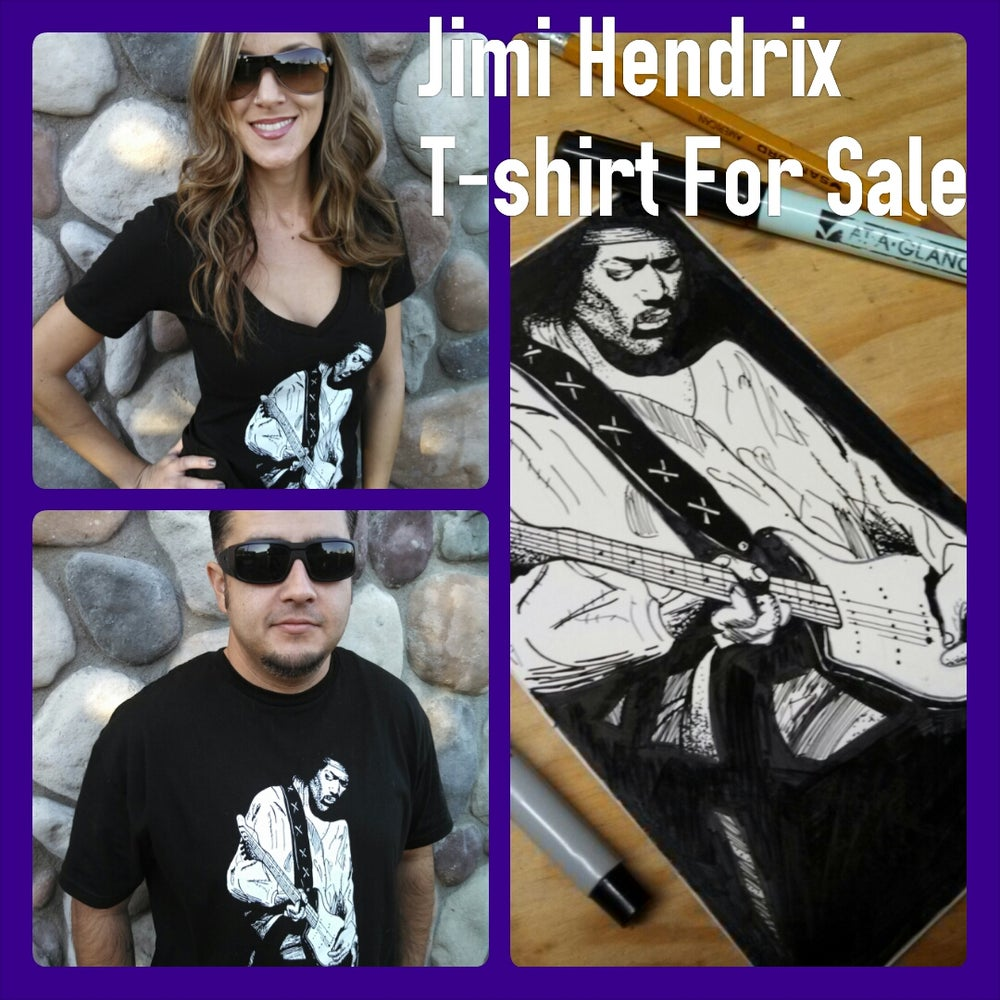 Image of Jimi Hendrix T-Shirts for sale!