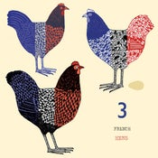 Image of Three french hens card