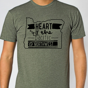 Image of Oregon Heart of the Pacific Northwest Shirt