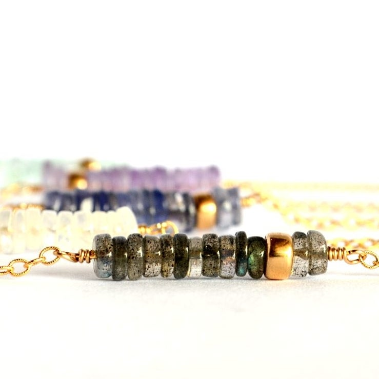 Image of Gemstone Abacus necklace