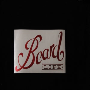 Image of Classic Logo Beard Life Sticker - Red Sparkle