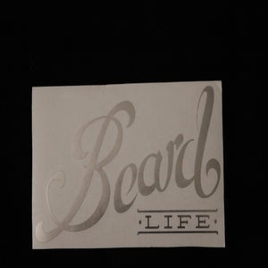 Image of Classic Logo Beard Life Sticker - Oil Slick Chrome